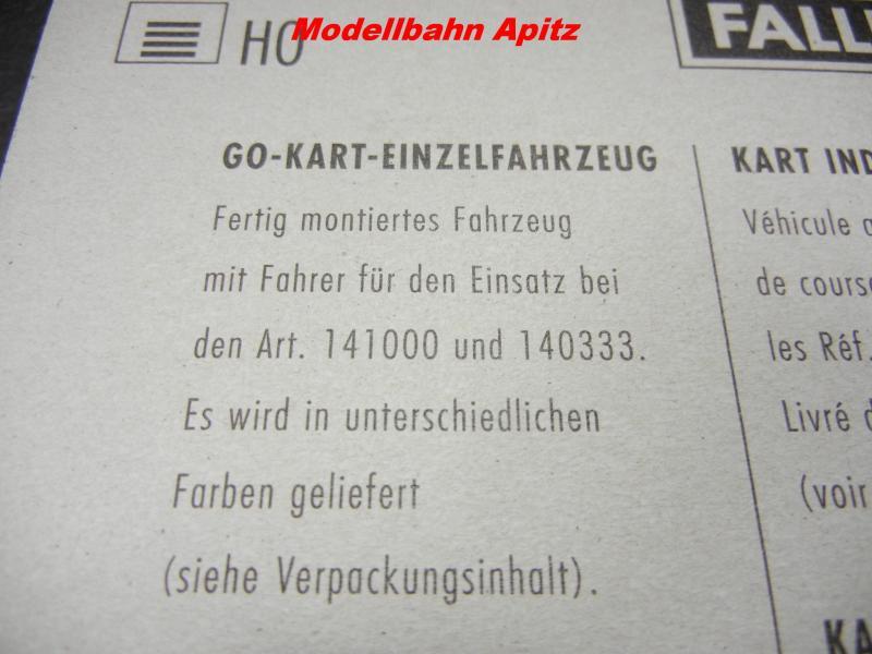 faller 141010 gialla go kart veicolo singolo per h0 kart ferrovia 141000 140333 ebay. Black Bedroom Furniture Sets. Home Design Ideas