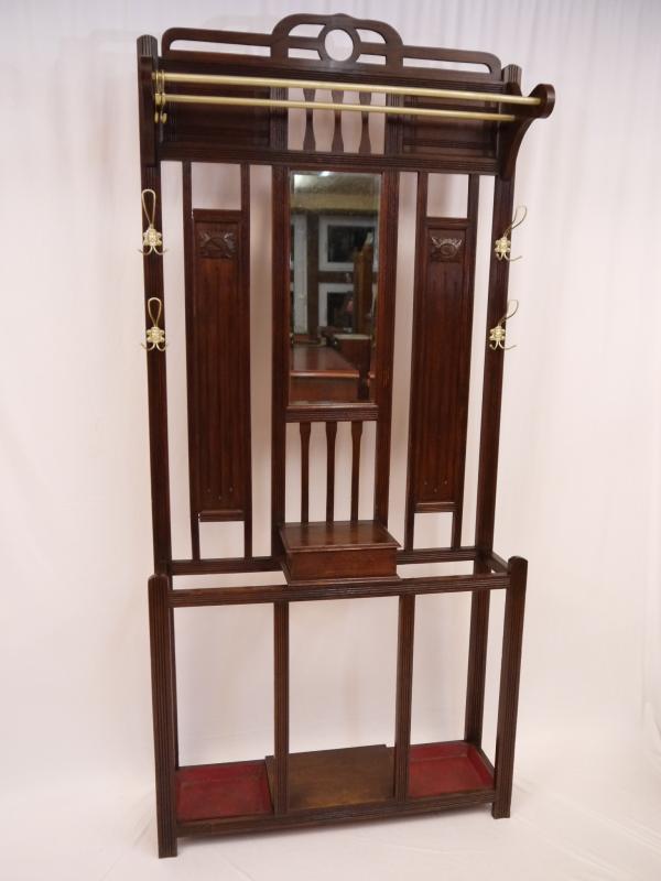 sch ne alte wand garderobe jugendstil eichenholz eicklingen. Black Bedroom Furniture Sets. Home Design Ideas