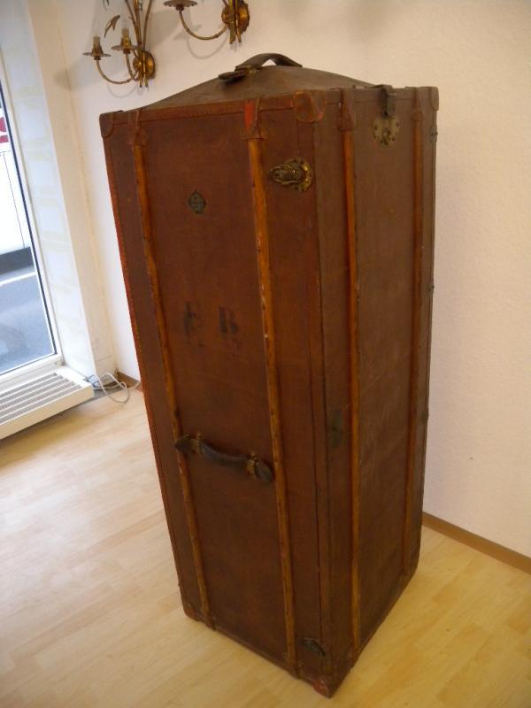 exklusiver xxl schrankkoffer moritz m dler leipzig koffer berseekoffer um 1900 ebay. Black Bedroom Furniture Sets. Home Design Ideas