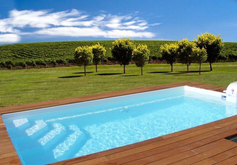 gfk fertig pool gfk fertigschwimmbecken california 6 mit grundausstattung. Black Bedroom Furniture Sets. Home Design Ideas
