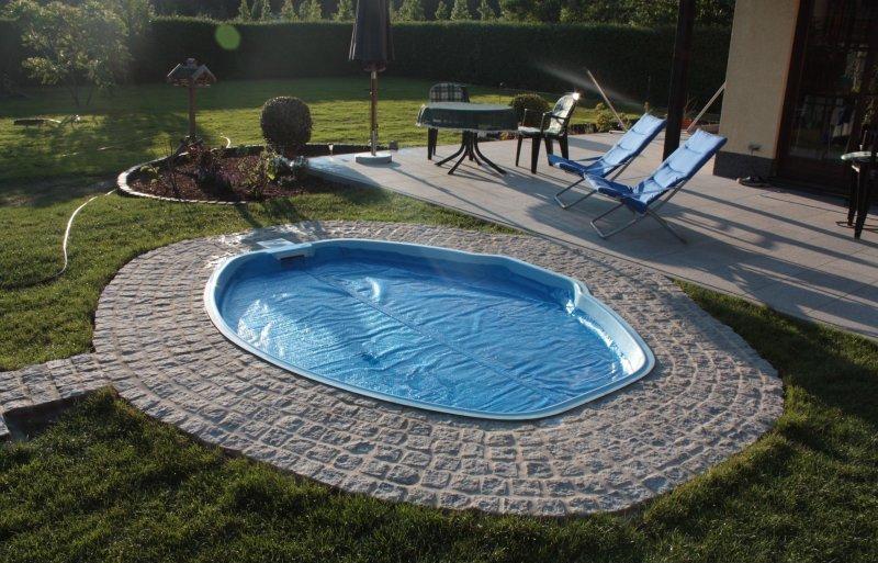 gfk schwimmbecken vincent gfk pool 285x230x85 gfk. Black Bedroom Furniture Sets. Home Design Ideas