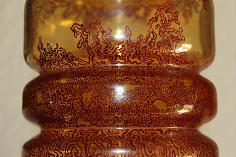 alte grosse glas vase 33 cm hoch czech josef neukirchen. Black Bedroom Furniture Sets. Home Design Ideas