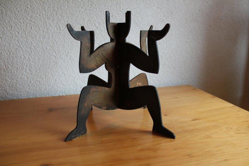 skulptur modern art signiert mads werner design unique