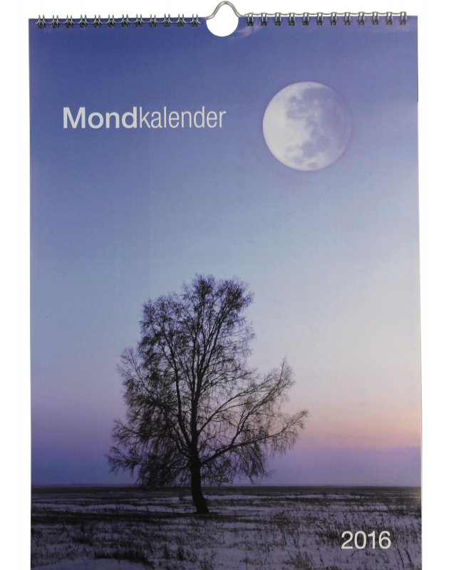 mondkalender 2016 wandkalender ringbindung mit mondphasen kalender sternzeichen ebay. Black Bedroom Furniture Sets. Home Design Ideas