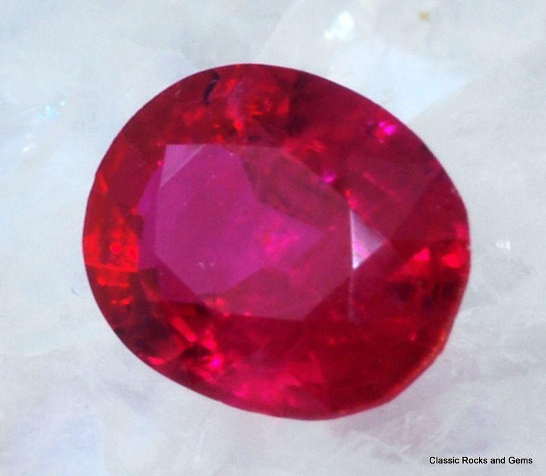 untreated ruby gemstone unbehandelt rubin