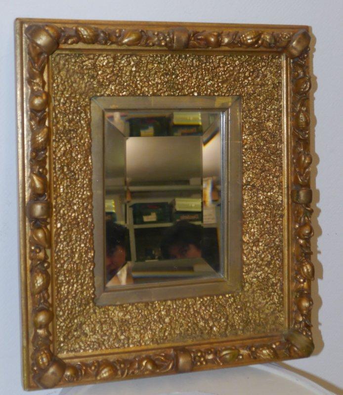 alter spiegel wandspiegel dekospiegel im goldrahmen geschliffenes glas ebay. Black Bedroom Furniture Sets. Home Design Ideas