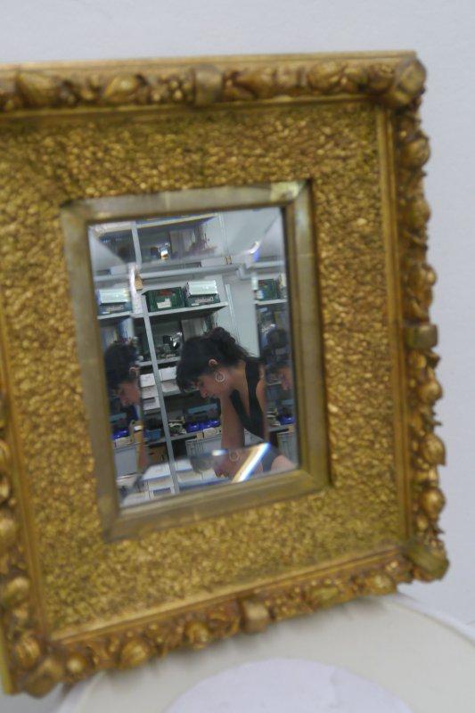 alter spiegel wandspiegel dekospiegel im goldrahmen. Black Bedroom Furniture Sets. Home Design Ideas