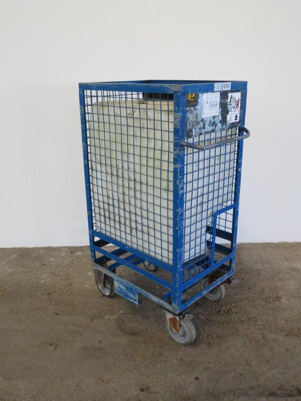 Turbo Fahrbare Gitterbox mit Wassertank Regenwassertank Regenfass 300 L  QB73