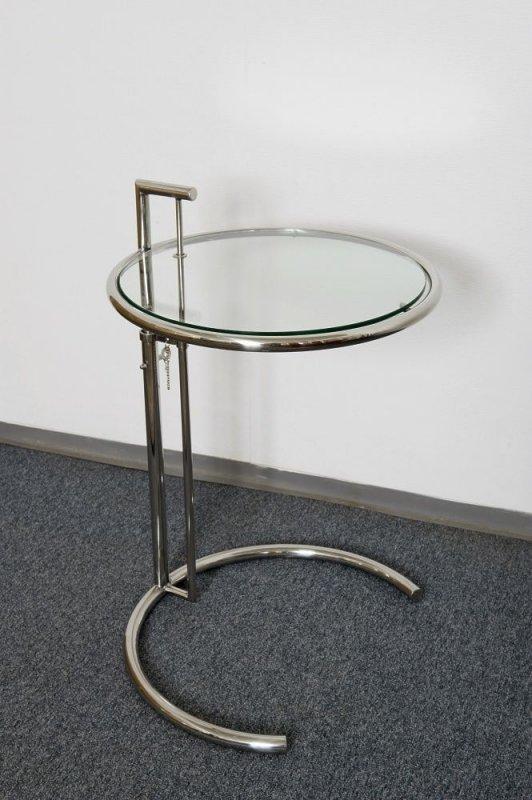 Designer tisch beistelltisch rund chrom glas super stylish for Beistelltisch rund rollen