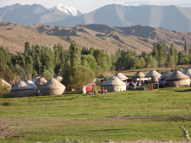 2,10 x 095m Filz Teppich Shyrdak Schirdak Kyrgysistan