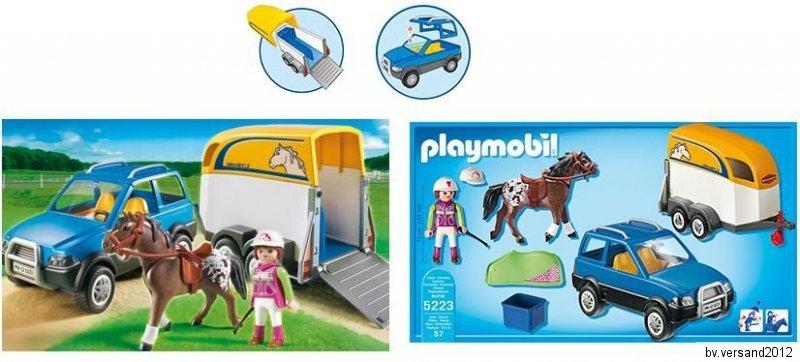 playmobil country 5223 reiterhof pkw mit. Black Bedroom Furniture Sets. Home Design Ideas