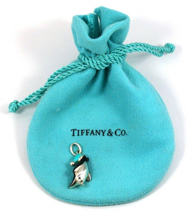 Tiffany & Co. Charm-Anhänger Pinguin Charm Anhänger 925/Silber ...