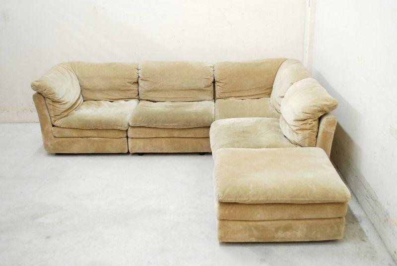rolf benz vintage 70er modular wohnlandschaft sofa cor ra ebay. Black Bedroom Furniture Sets. Home Design Ideas