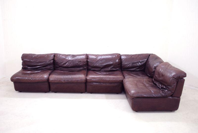 rolf benz vintage modul wohnlandschaft sofa ledersofa. Black Bedroom Furniture Sets. Home Design Ideas