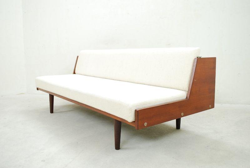 Hans wegner for getama 60er ge258 teak daybed sofa for Sofa 60er gebraucht