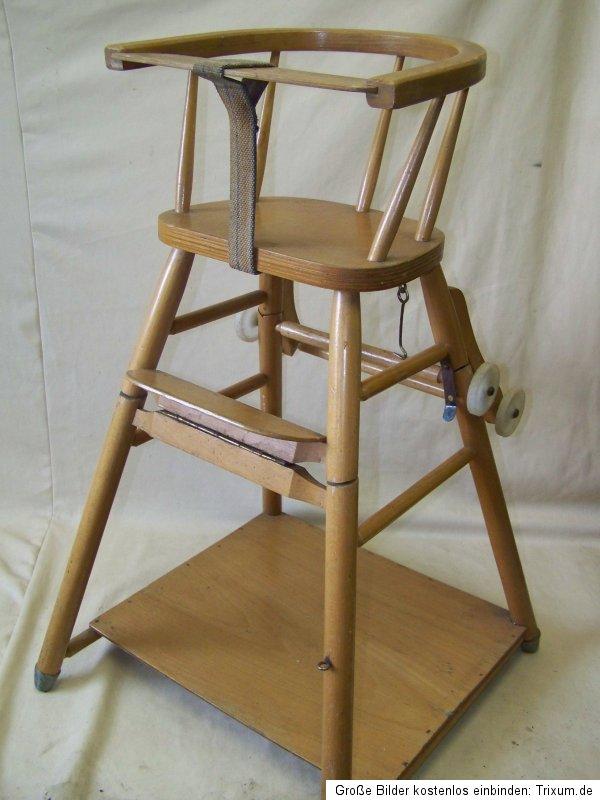 alter kinderhochstuhl kinderstuhl holz kinder stuhl hochstuhl spieltisch ebay. Black Bedroom Furniture Sets. Home Design Ideas