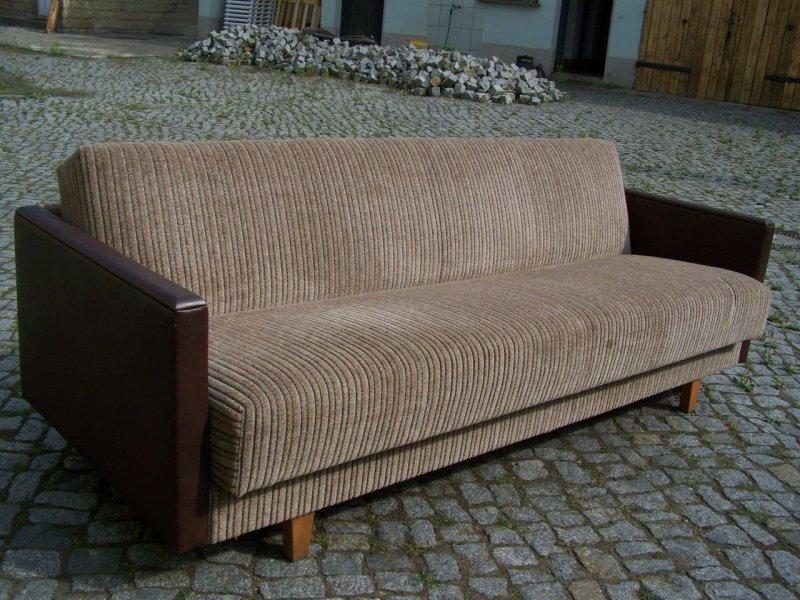 sch nes altes 70er jahre sofa klappcouch klappsofa kult couch schlafcouch ebay. Black Bedroom Furniture Sets. Home Design Ideas