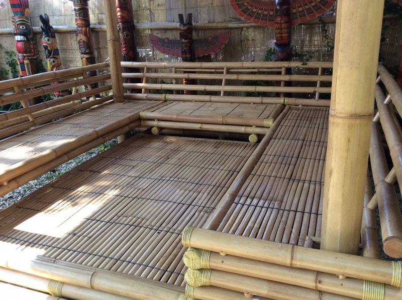 Pavillon bambus gazebo gartenhaus teich bamboo original bambushaus ebay - Bambus gartenhaus ...