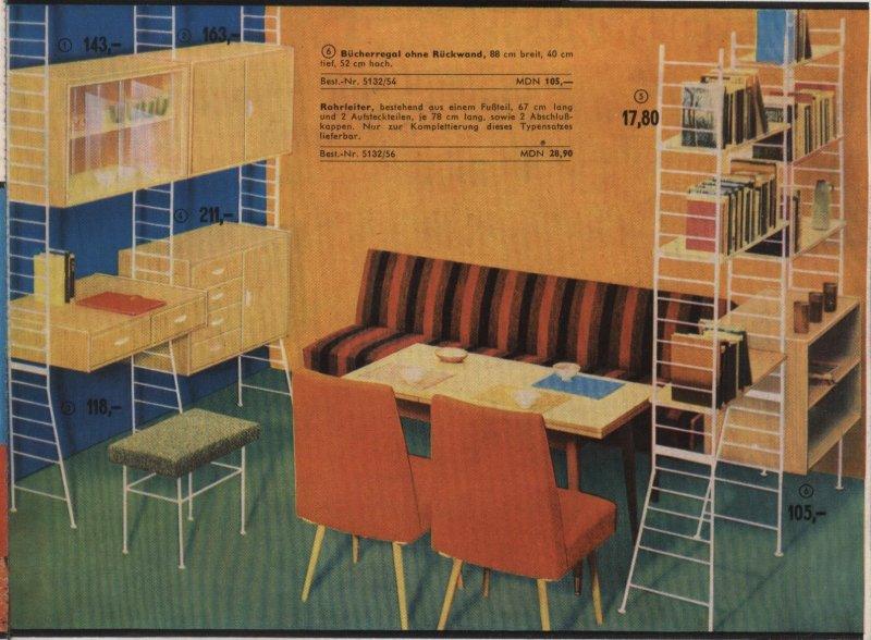 Alte Sehr Seltene DDR Wohnwand Leitersystem Sybille Viele Teile Jaeger Wohnzimmerschrank