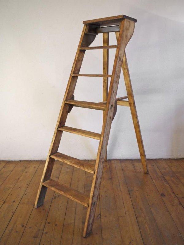 große antik Leiter Bücherregal Handtuchhalter Holzleiter