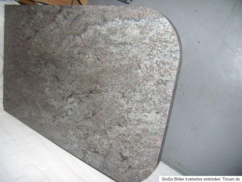 k chentisch k chenarbeitsplatte zur wand 1 40x80x3 8 cm granit optik 1 fuss ebay. Black Bedroom Furniture Sets. Home Design Ideas