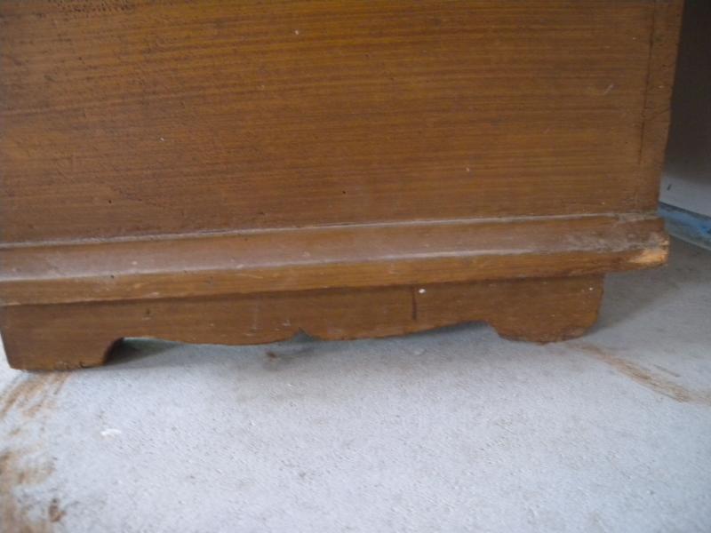 kleiner zerlegbarer barock dielenschrank kleiderschrank eiche schrank um 1750 ebay. Black Bedroom Furniture Sets. Home Design Ideas