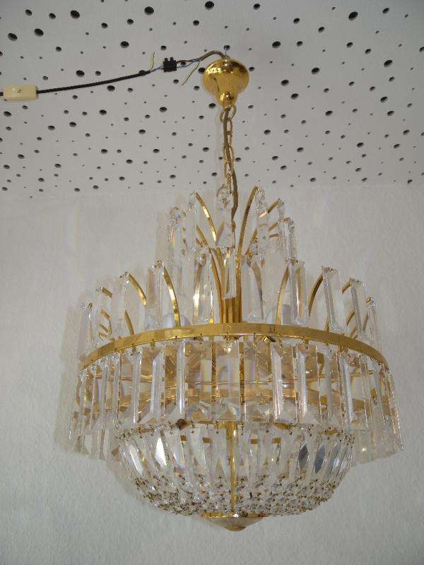 Alter bakalowits kristall lobmeyr l ster glas leuchter for Design lampen nachbau
