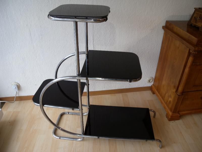 thonet regal blumenbank emile guyot art deko bauhaus stahlrohr funktionalismus ebay. Black Bedroom Furniture Sets. Home Design Ideas