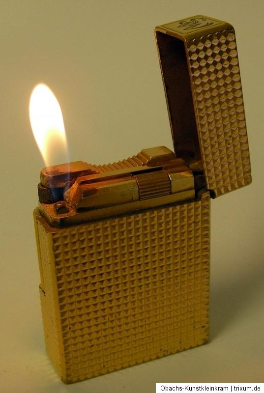 s t dupont feuerzeug gas gold waffelmuster gelb kartusche paris gasfeuerzeug ebay. Black Bedroom Furniture Sets. Home Design Ideas