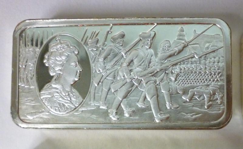50 x Silbermedaillen (Plaketten) im Holzkasten.  Geschichte der englischen Könige.  925-er Sterling Silber...