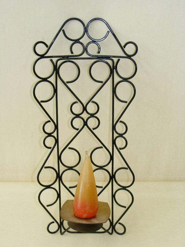 sch ner alter wandhalter f kerzen kult retro design 70er kerzenst nder ebay. Black Bedroom Furniture Sets. Home Design Ideas