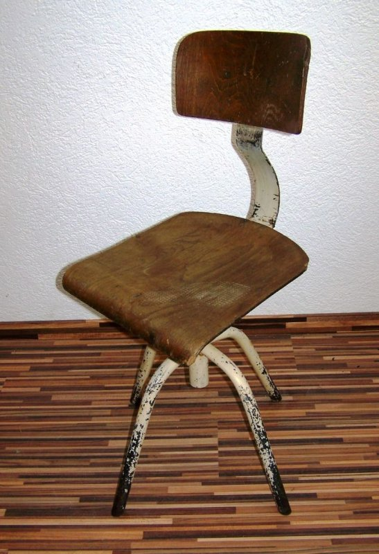 Bella vecchio legno sedia da ufficio art deco sedia for Sedia ufficio xxl