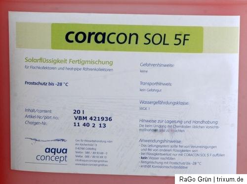 coracon sol 5 f solarfl ssigkeit kollektoren 20 l gebinde deutsches erzeugnis ebay. Black Bedroom Furniture Sets. Home Design Ideas