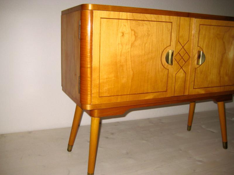 sch nes mid century design schr nkchen schrank kommode 50er jahre berlin ebay. Black Bedroom Furniture Sets. Home Design Ideas