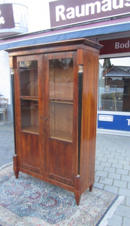 biedermeier stil vitrine nu baum hand poliert ebay. Black Bedroom Furniture Sets. Home Design Ideas