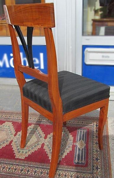 biedermeier stuhl nachbau stilm bel massiv kirschbaum schilfblatt lehne ebay. Black Bedroom Furniture Sets. Home Design Ideas