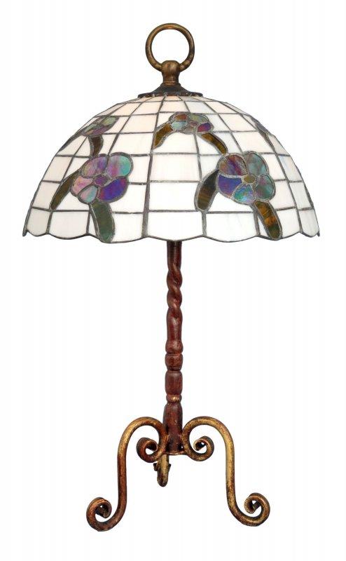 pr chtige gro e original jugendstil tiffany lampe tischleuchte um 1920 shabby ebay. Black Bedroom Furniture Sets. Home Design Ideas