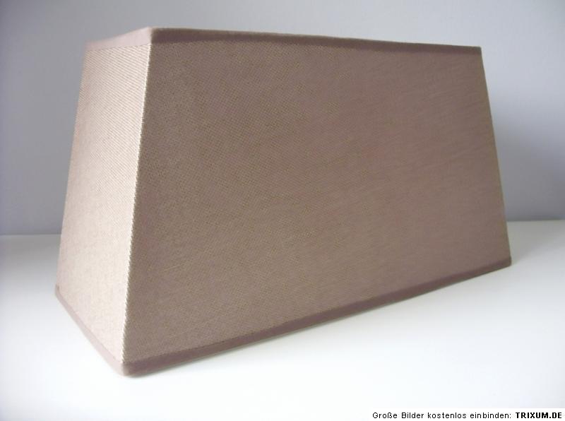 lampenschirm rechteckig braun leinenstruktur 35 cm breit 17 cm tief 19 cm hoch ebay. Black Bedroom Furniture Sets. Home Design Ideas