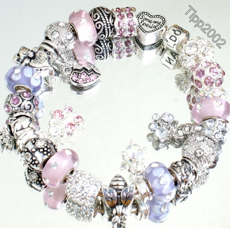 pandora armband leder rosa