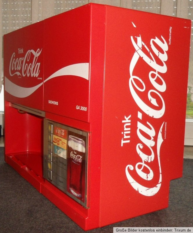 coca cola minipom getr nkeautomat siemens ga3000 cola automat ebay. Black Bedroom Furniture Sets. Home Design Ideas