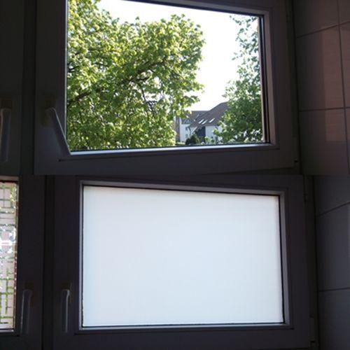 6 57 m spiegelfolie milchglas frosted fenster folie deko sichtschutz uv schutz ebay. Black Bedroom Furniture Sets. Home Design Ideas