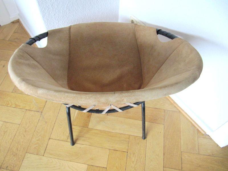 60s schalensessel leder clubsessel wildleder mid century chair. Black Bedroom Furniture Sets. Home Design Ideas