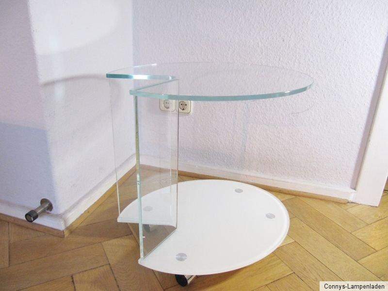 glastisch couchtisch beistelltisch auf rollen sehr. Black Bedroom Furniture Sets. Home Design Ideas