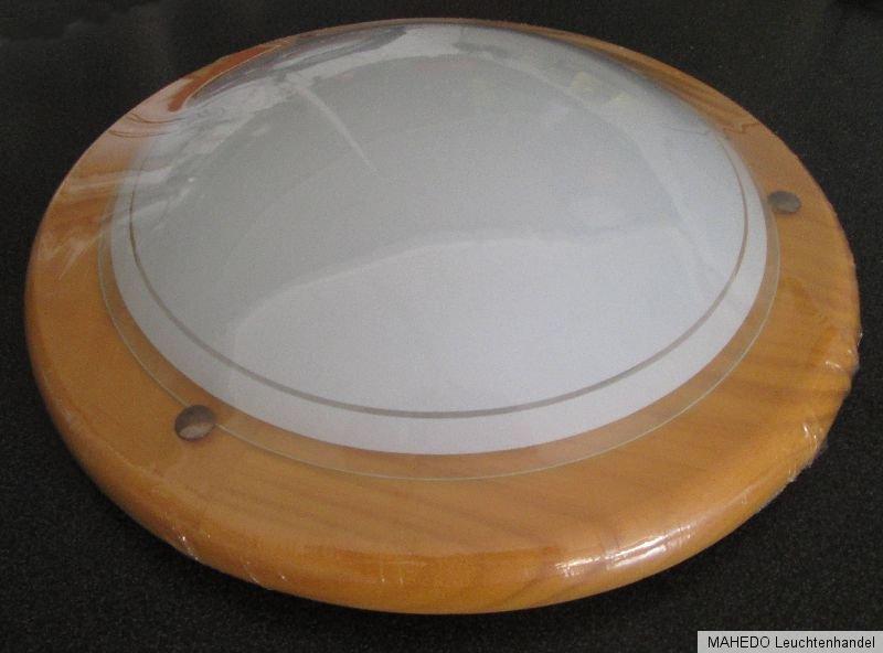 deckenleuchte deckenlampe wandleuchte eglo rund teller lampe holz kiefer glas. Black Bedroom Furniture Sets. Home Design Ideas