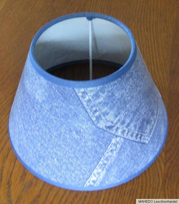 lampenschirm lampe stoff textil schirm stoffschirm textilschirm jeans blau e27 s ebay. Black Bedroom Furniture Sets. Home Design Ideas