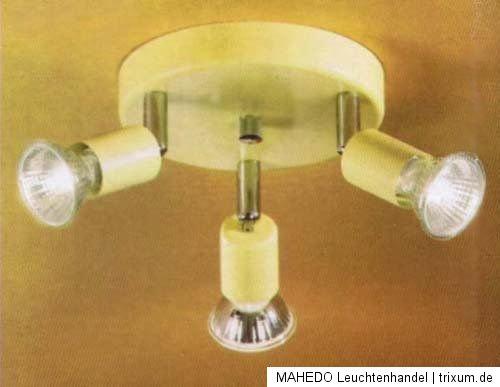 decken spot deckenlampe deckenstrahler rondell eglo mini 3x gu10 halogen beige ebay. Black Bedroom Furniture Sets. Home Design Ideas