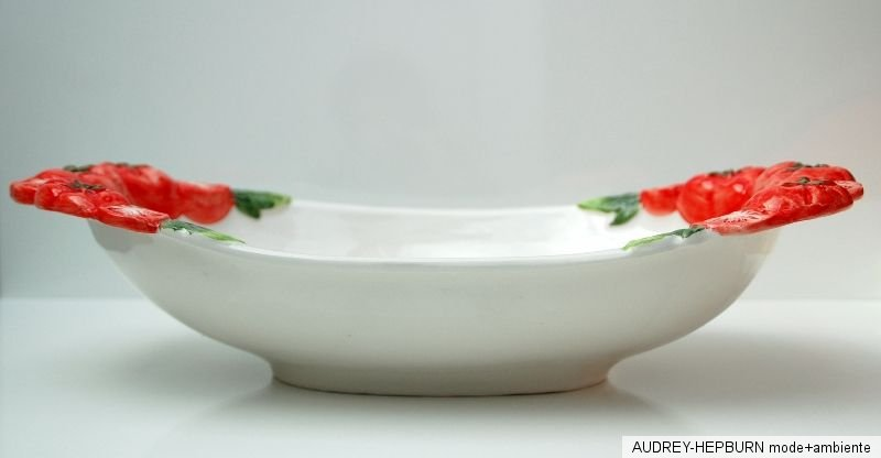 mediterranes geschirr sch ssel gro oval 41 cm tomate relief bassano keramik ebay. Black Bedroom Furniture Sets. Home Design Ideas