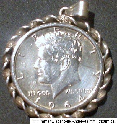 USA / U.S.A. 1/2 / Half SILBER Dollar KENNEDY   1964   stgl mit