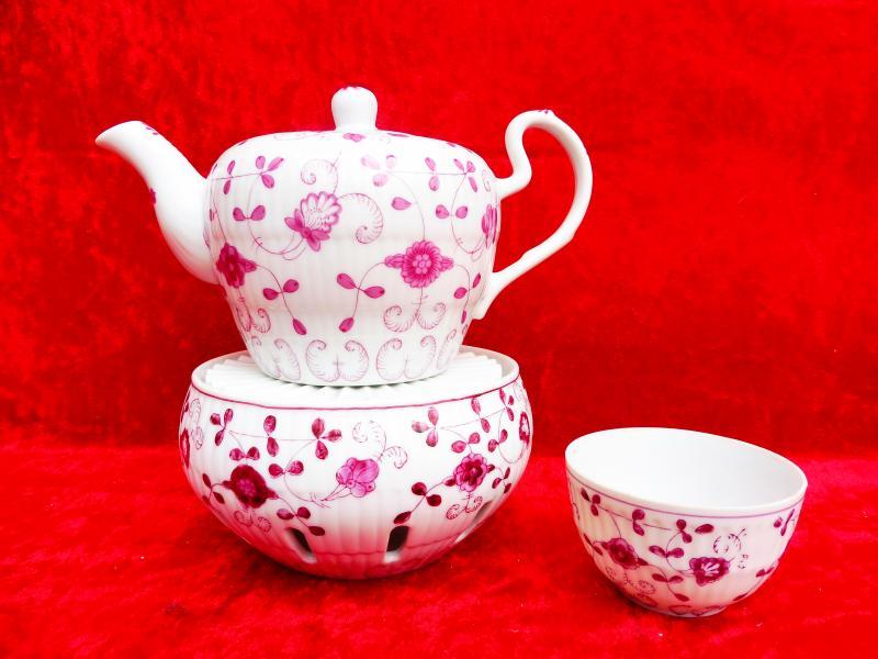 Schöne Teekanne Mit Stövchen__A.W. (A.Warnecke)__China