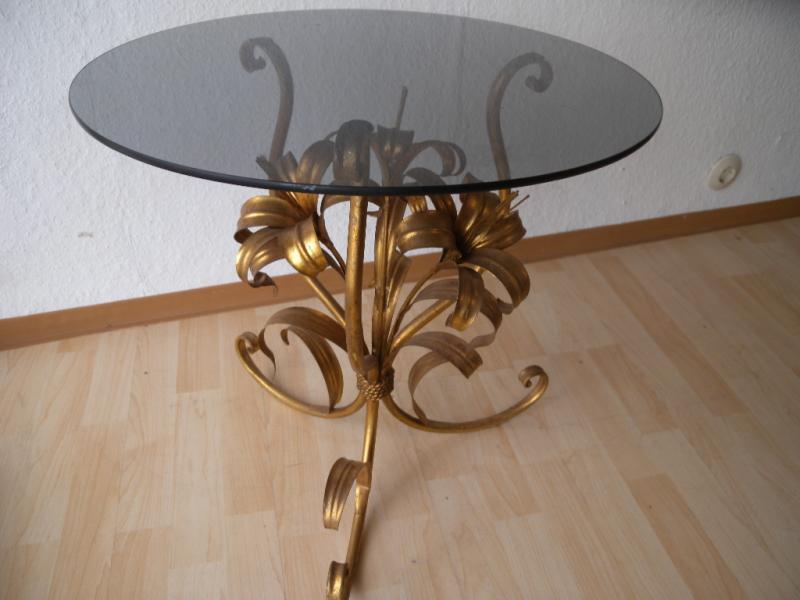 Hans k gl couchtisch tisch table beistelltisch blume palme for Design lampen nachbau
